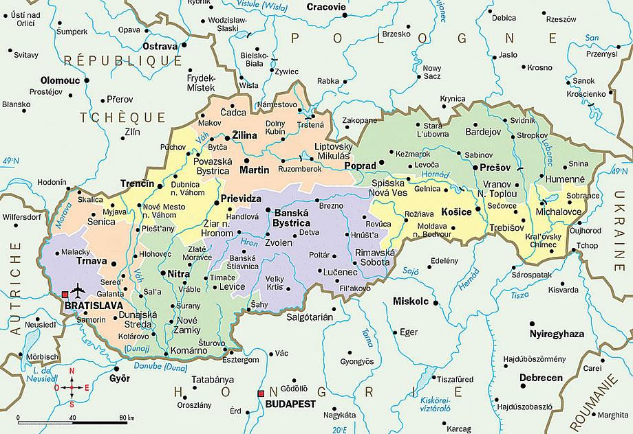 Harta Generala Slovaciei